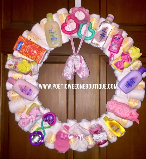 Poeticweeone Boutique Unique Handmade Diaper Wreaths For Baby